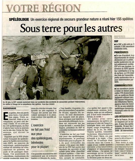 2006 11 19 Dauphine libere Sassenage