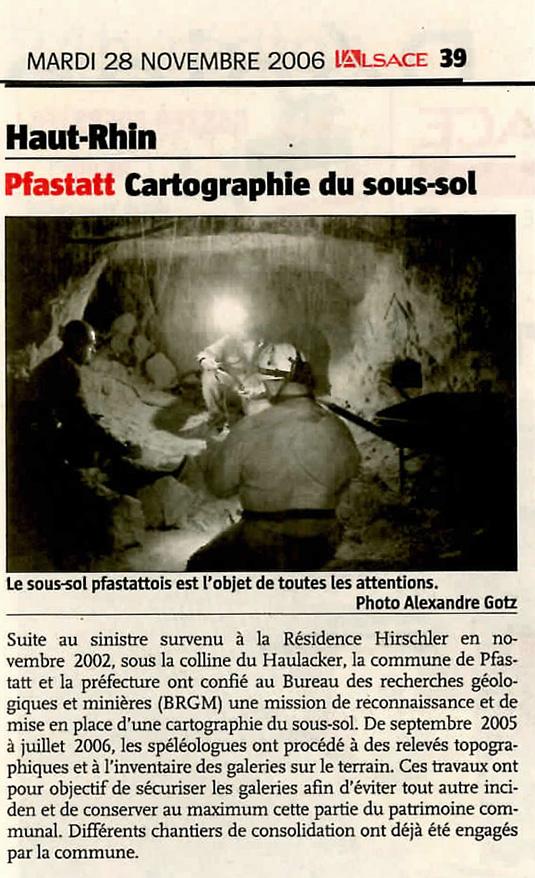 2006 11 28 L'ALsace topographie a Pfastatt