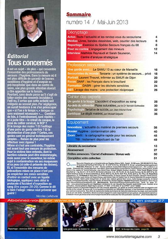 2013 05 Secouriste magazine SSF 68-1