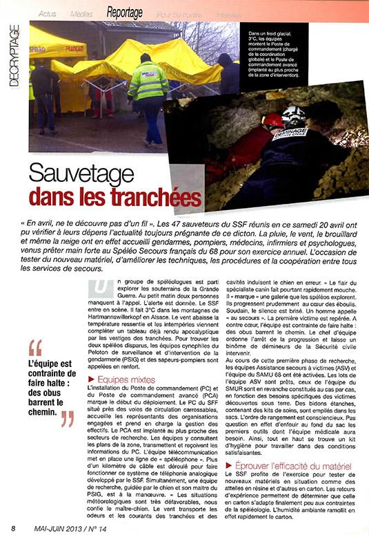 2013 05 Secouriste magazine SSF 68-2